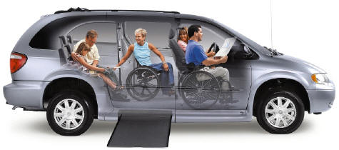 Wheelchair accessible van.